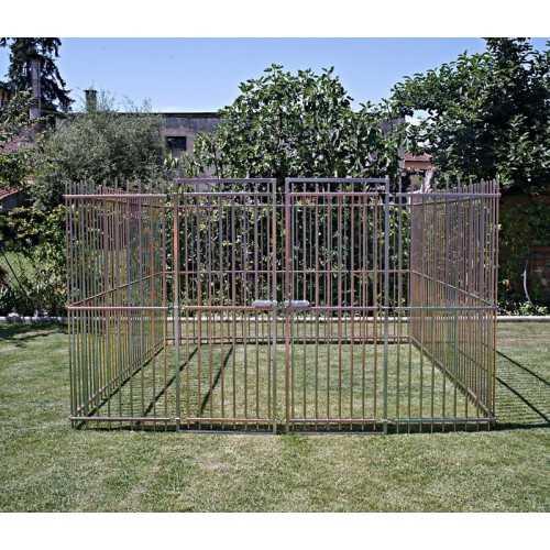 Recinzione per cani da esterno in tubolare doppia zincatura altezza 180