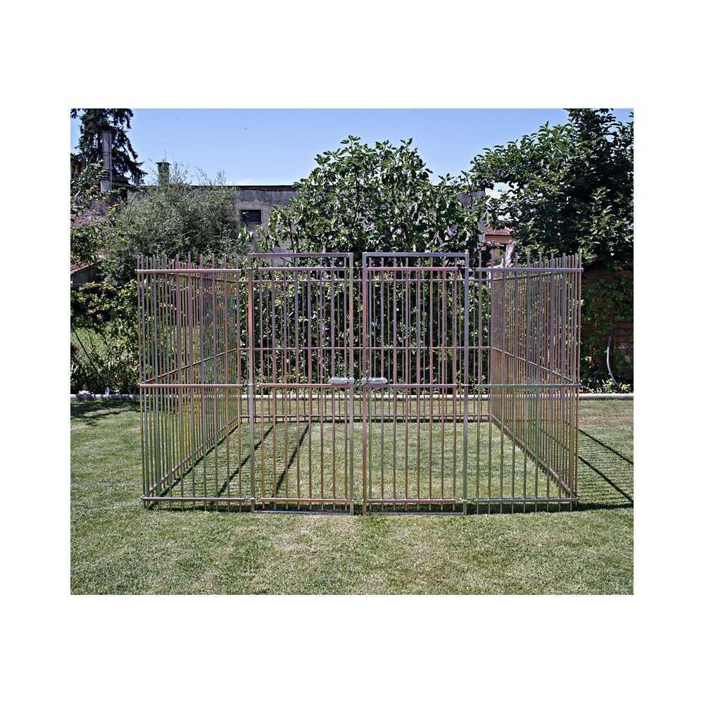 recinzione professionale da esterno in tubolare per cani di grossa taglia