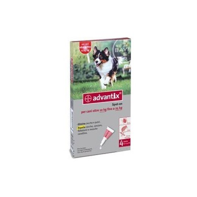 Advantix  per cani medi 10-25 kg.  - 4 pipette