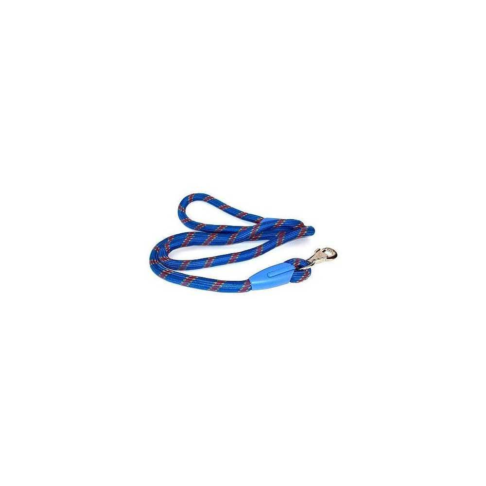 Guinzaglio tondo in nylon fantasia blu cm.136