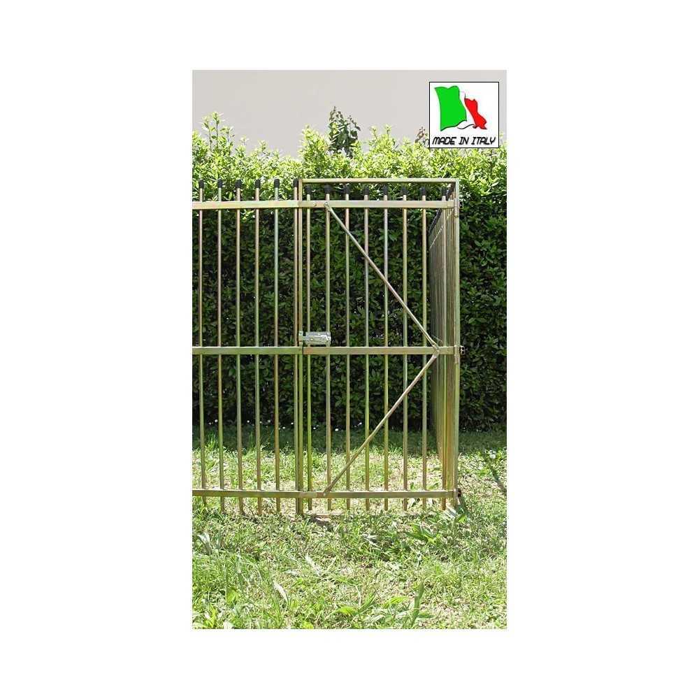 Porta per recinto in tubolare doppia zincatura altezza 180 per cani grossa taglia
