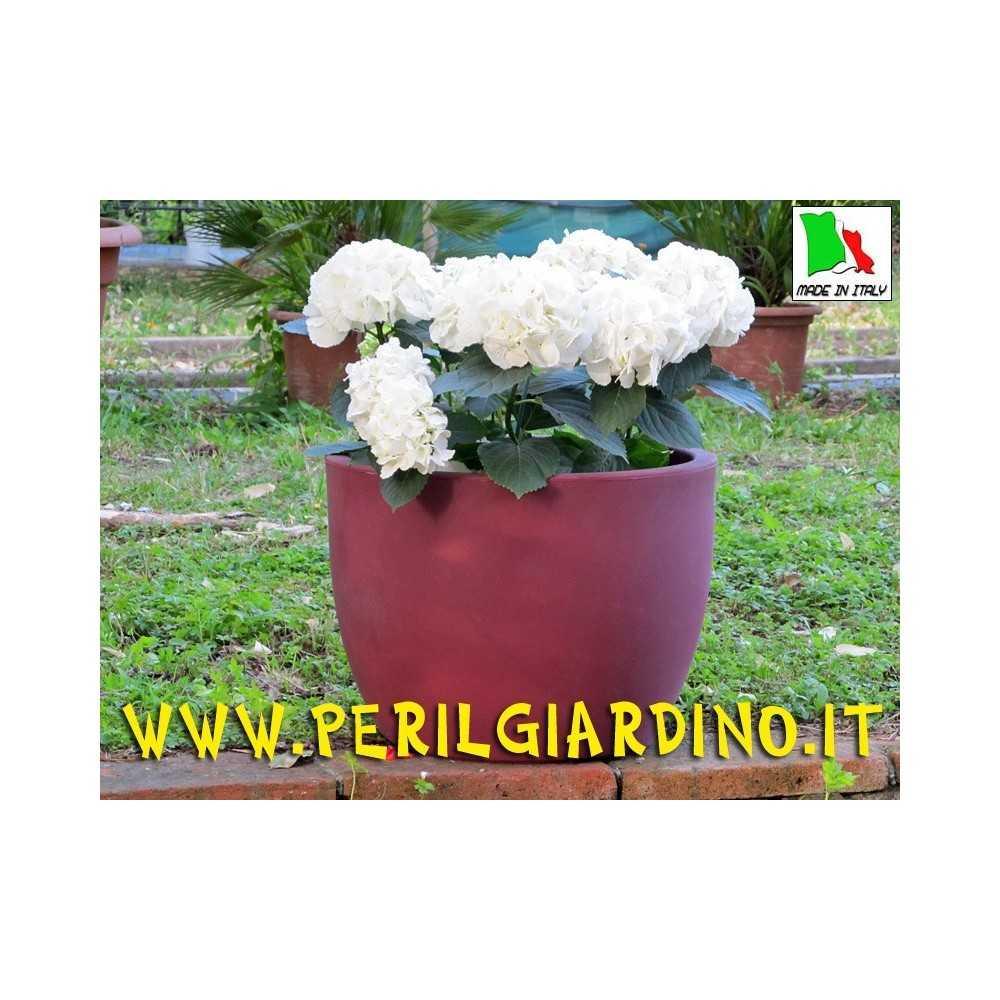 Vaso in plastica stampata mod. Ravenna cm. 50x37h