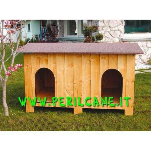 Cuccia in legno doppia giardino