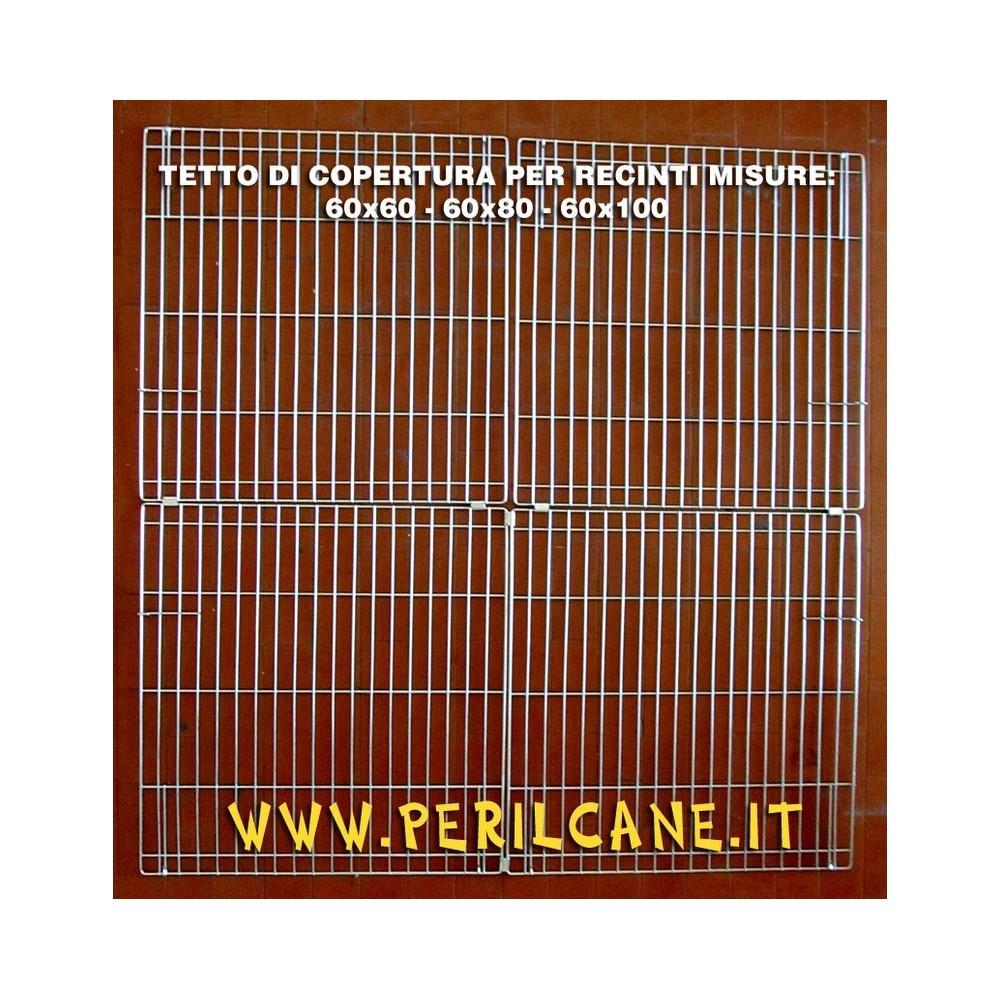 Tetto zincato 4 pannelli forma quadrato per recinti