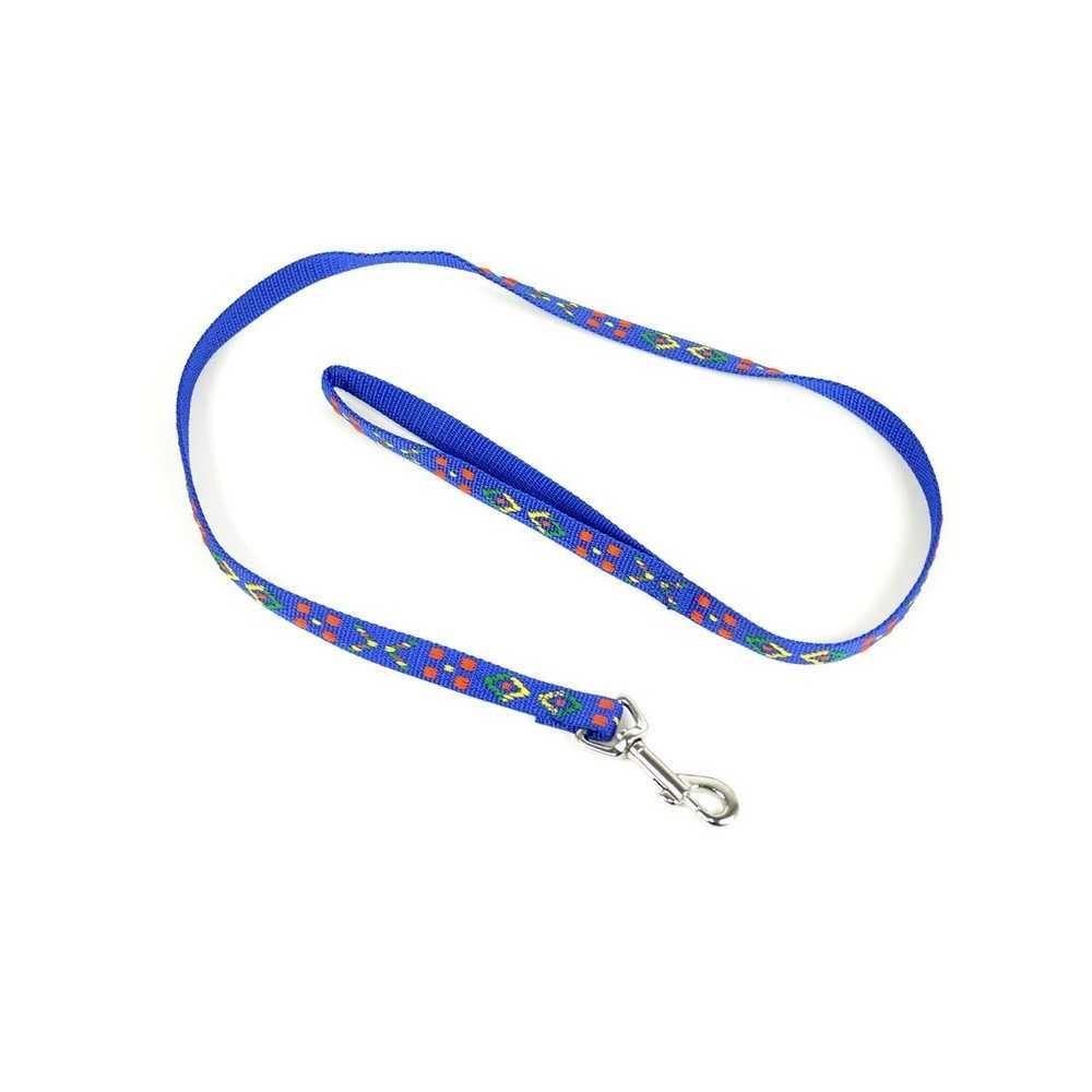 Guinzaglio per cane in nylon colore blu fantasia cm 100x1
