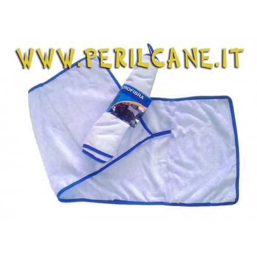 Panno in microfibra celeste cm. 90x30 per asciugare animali domestici