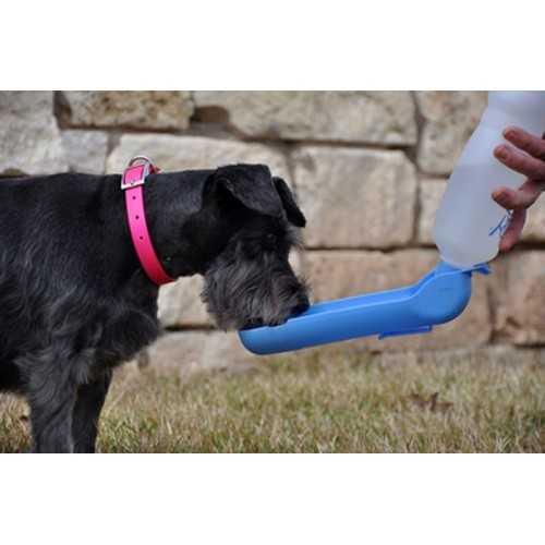 Abbeveratoio borraccia con bottiglia per cani