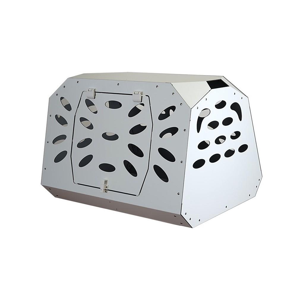 Trasportino auto in alluminio composito per cani