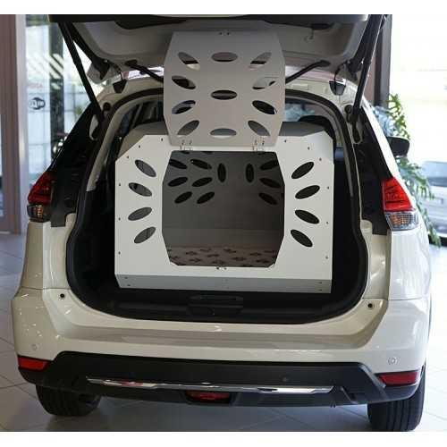 Trasportino in Alluminio aperto e montato su  Nissan X trail