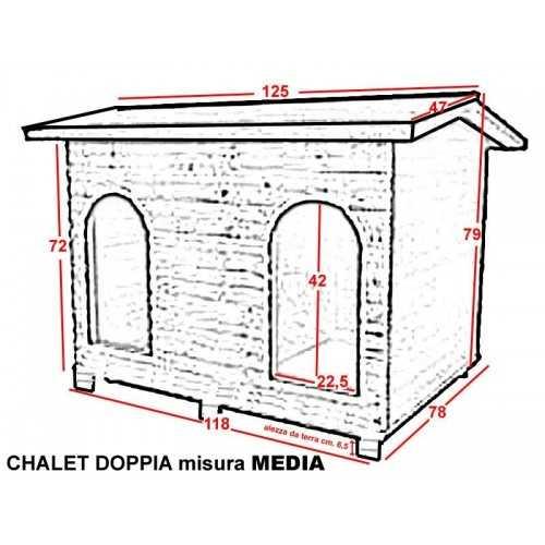 Cuccia Chalet doppia riscaldata misura media