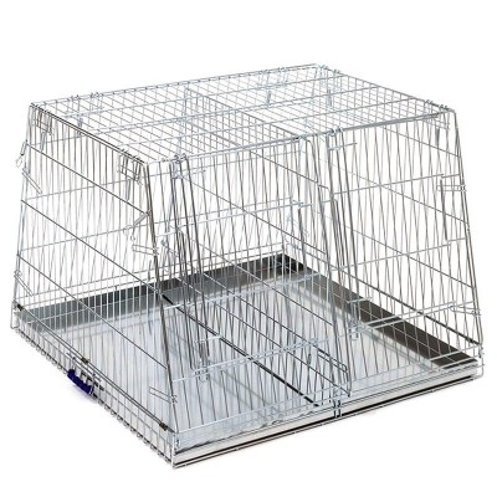 Trasportino per cani doppio in metallo pieghevole inclinato Maxi + OMAGGIO