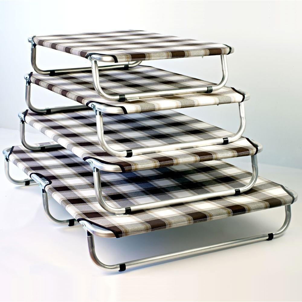 Brandina cani pieghevole in alluminio con telo rinforzato
