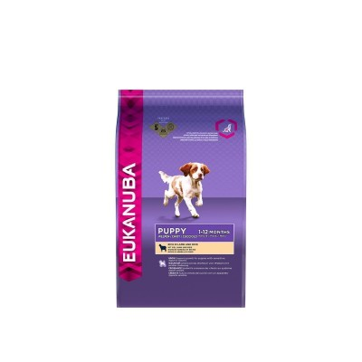 Eukanuba Puppy e Junior Agnello e Riso  Kg. 12