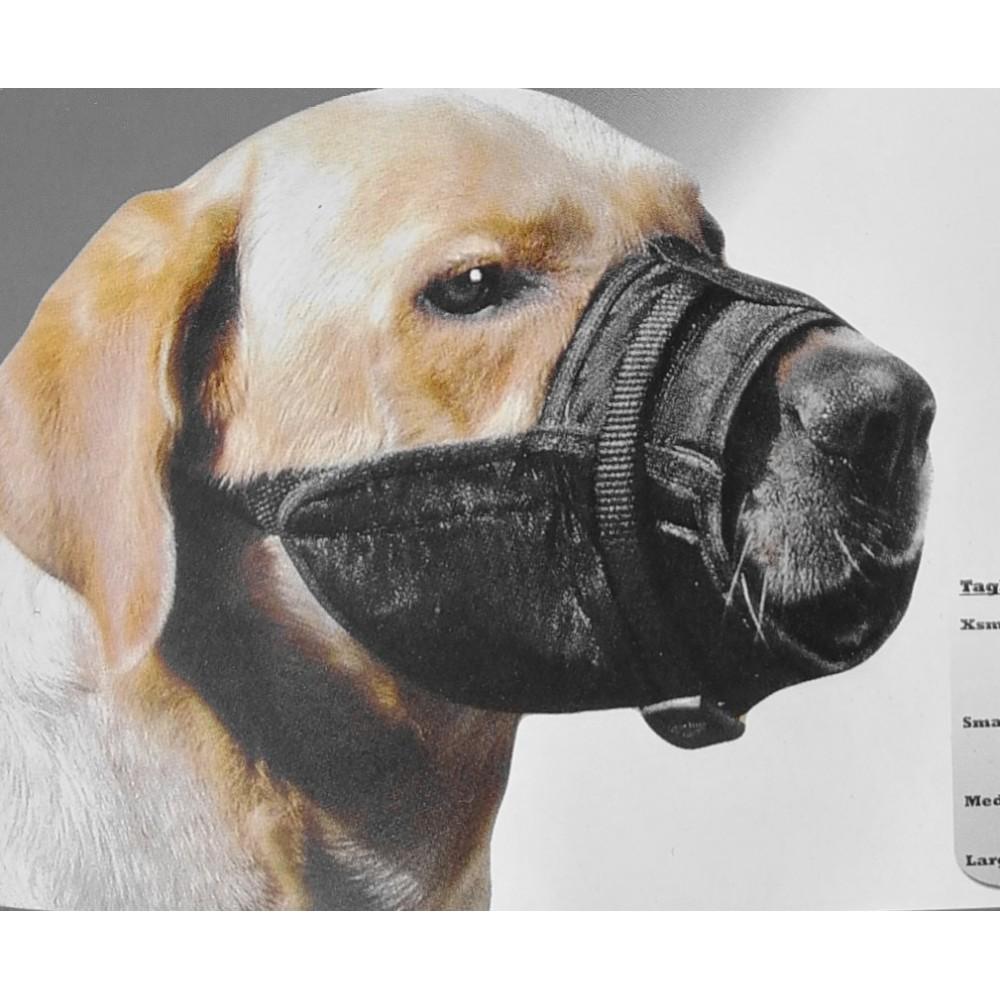 Museruola in nylon doppia regolazione per cani