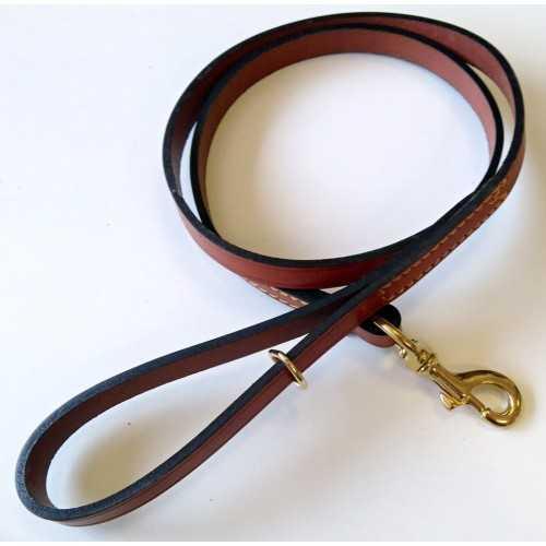 Guinzaglio per cani in pelle di bufalo cm. 125x1