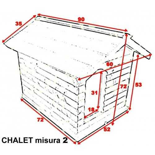 Misure per cuccia in legno da esterno apribile per Beagle e simili