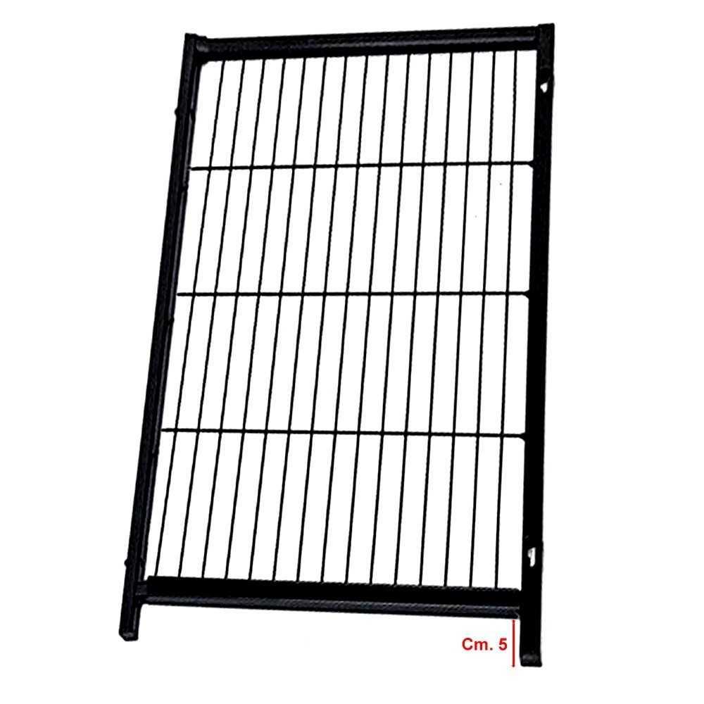 Pannello aggiuntivo per recinto modulare nero altezza cm. 120